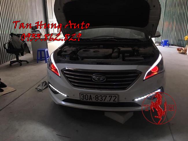 Độ Đèn Xe Hyundai Sonata 2016, 2017 Chuyên Nghiệp