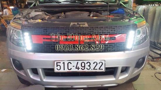 Độ Đèn Ford Ranger Tại Tân Hùng Auto