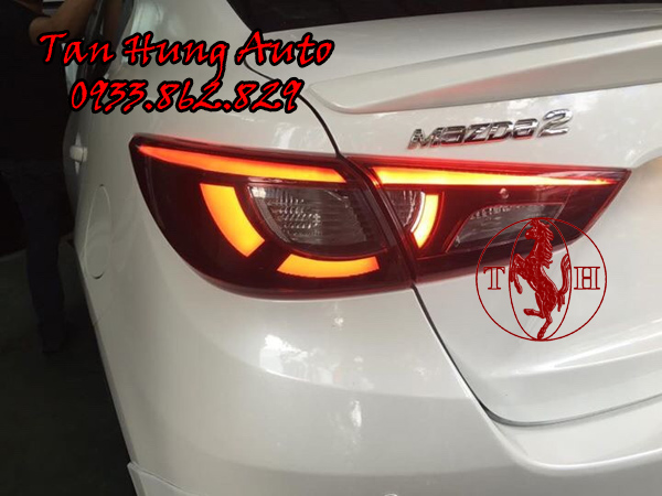 Độ Đèn Hậu Mazda 2 Chuyên Nghiệp Tại Tphcm 01