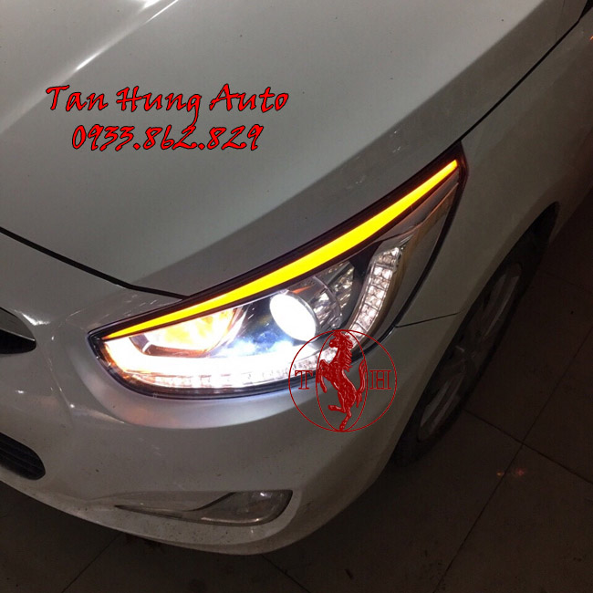 Độ Đèn Hyundai Accent 2016 Chuyên Nghiệp Tại Tphcm
