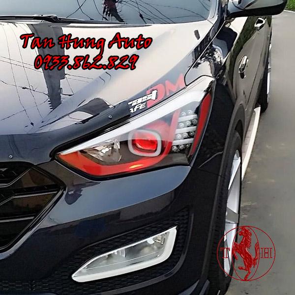 Độ Đèn Hyundai Santafe Chuyên Nghiệp Tại Tphcm 02