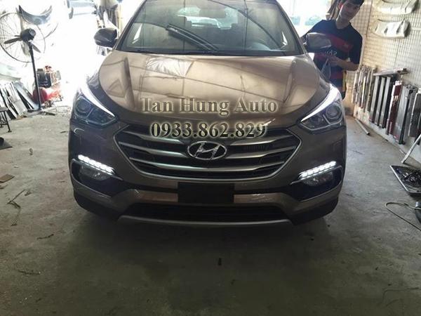 Độ Đèn Led Cản Cho Xe Hyundai Santafe 02