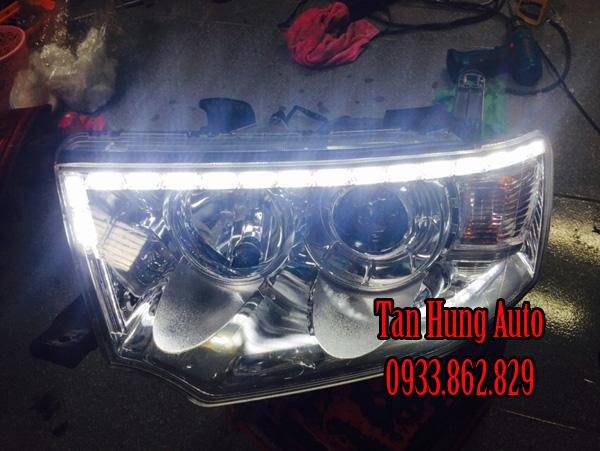 Độ Đèn Led Cho Xe Mitsubishi Pajero 2013