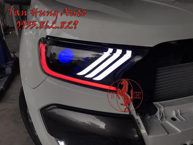 Độ Đèn Led Ford Ranger 2016 Kiểu Mustang Chuyên Nghiệp 02