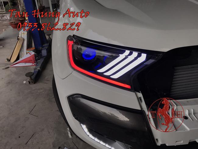 Độ Đèn Led Ford Ranger 2016 Kiểu Mustang Chuyên Nghiệp