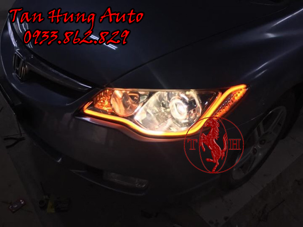 Độ Đèn Mí Led Honda Civic Chuyên Nghiệp 01