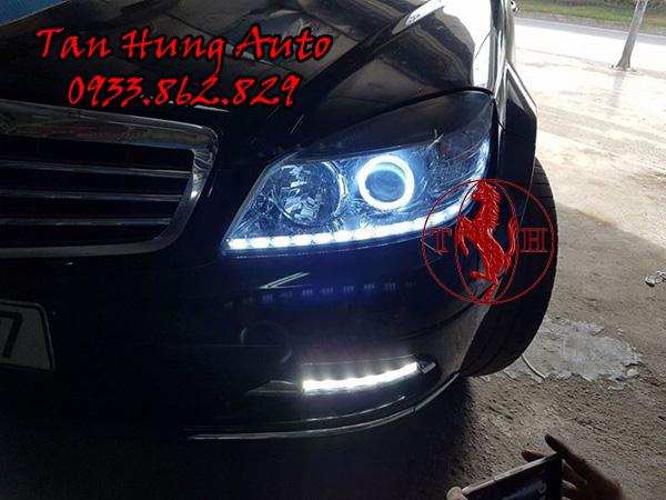 Độ Đèn Led Mercedes c200 Chuyên Nghiệp Tại Tphcm 01