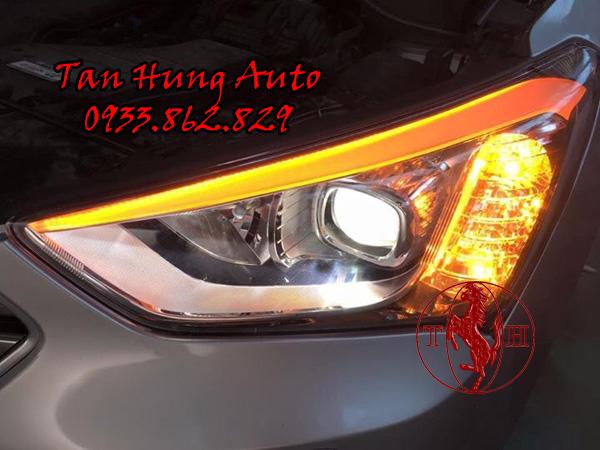 Độ Đèn Mí Led Xe Hyundai Santafe chuyên Nghiệp 01