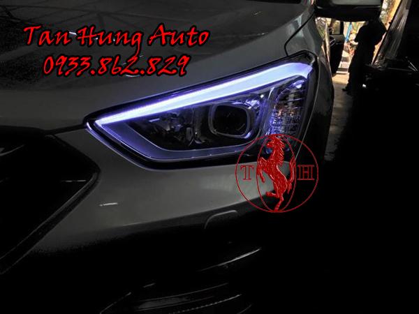 Độ Đèn Mí Led Xe Hyundai Santafe chuyên Nghiệp 02