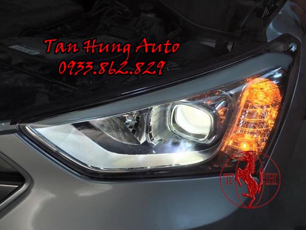 Độ Đèn Mí Led Xe Hyundai Santafe chuyên Nghiệp 03