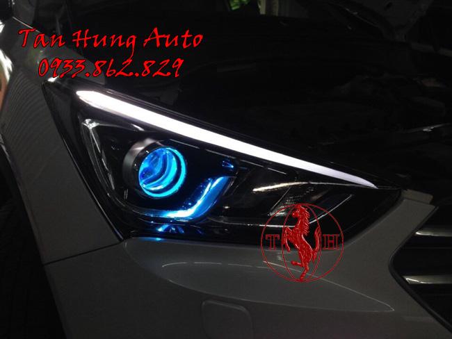 Độ Đèn Xe Hyundai Santafe 2016, 2017 Chuyên Nghiệp 01