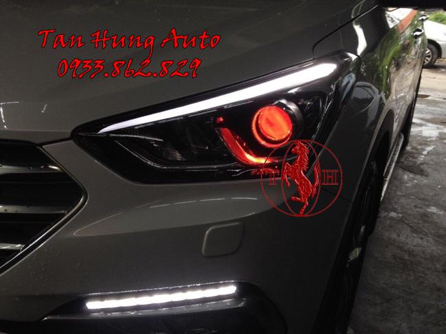Độ Đèn Xe Hyundai Santafe 2016, 2017 Chuyên Nghiệp 02