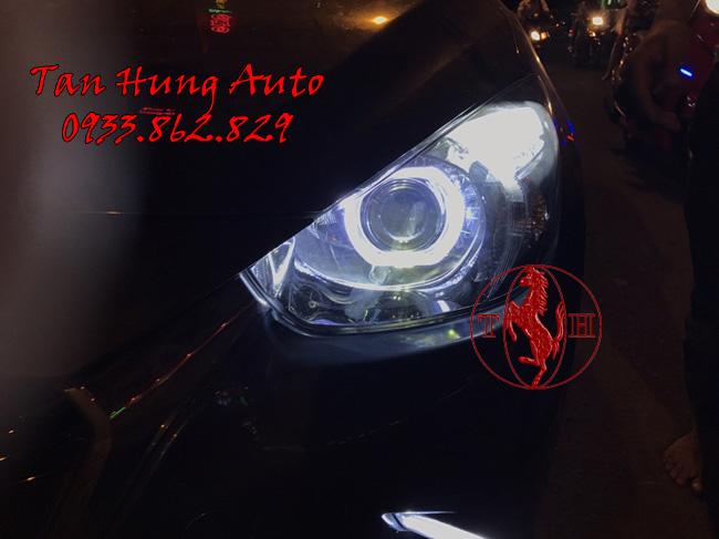 Độ Đèn Xe Mazda 2 Kiểu BMW Chuyên Nghiệp 01