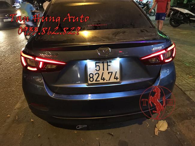 Độ Đèn Xe Mazda 2 Kiểu BMW Chuyên Nghiệp 02