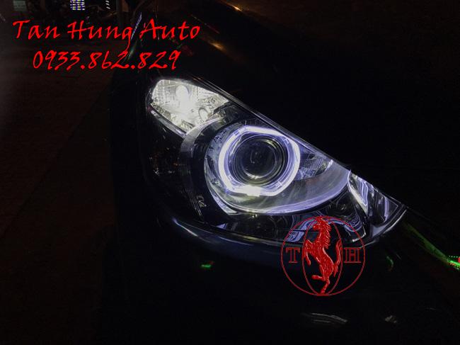 Độ Đèn Xe Mazda 2 Kiểu BMW Chuyên Nghiệp
