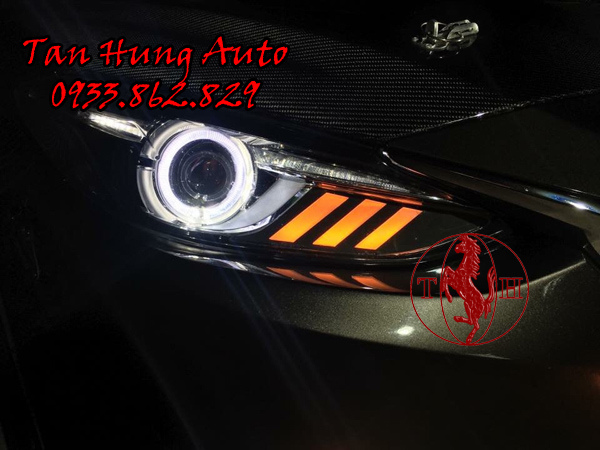 Độ Đèn Xe Mazda 3 Kiểu Mustang Chuyên Nghiệp